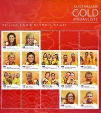 2008 BEIJING OLYMPIC GOLD MEDALLISTS STAMP SHEETLETS
