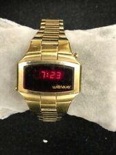 Longines Wittnauer Polara Led Gold Tone Watch New Battery