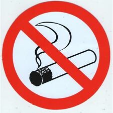 AUTOCOLLANT STICKER INTERDIT DE FUMER ZONE NON FUMEUR DIAMETRE 10 CM