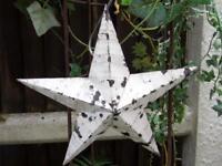 White Wooden Amish Barn Star 52 x 52cm