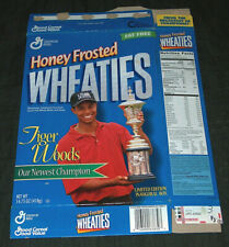 1998 Tiger Woods Wheaties US Amateur Champ Limited Edition Inaugural Cereal Box