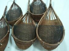 5 small wicker baskets, suitable for Orchids & Small Plants. FREE POSTAGE.