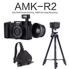 AMKOV AMK-R2 Digital Camera Video Digital Camera+ Wide-angle Lens+Tripod+Bagpack