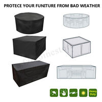 4-10Seaters Table Set Waterproof Cover Garden Patio Furniture Shelter   BH