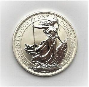 UK Elizabeth II 2000 £2 Britannia 1oz Fine Silver in Capsule - BU - No Scratches