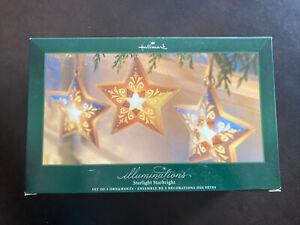 Hallmark Illuminations Starlight Starbright Collection Set Of 3 Christmas Lights