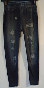 Blue Leggings Jean Print Size 10-12