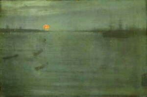 James Abbott Whistler Nocturne Blue and Gold Poster Giclee Canvas Print