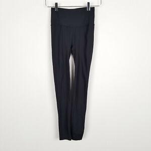"Lululemon High Rise Crop Leggings 25"" for Women in Black Size 2 Yoga Workout"