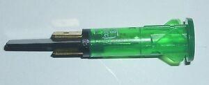 GREEN NEON INDICATOR LAMP 250V 120°C 10mm HOLE PANEL MOUNT FOR LINCAT HOBS NE43