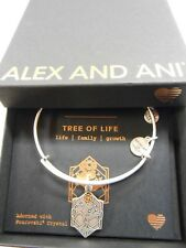 Alex and Ani TREE OF LIFE IV Expandable Wire Bracelet Rafaelian Silver NWTBC