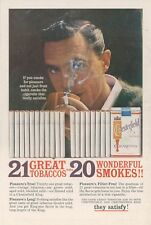 1961 Chesterfield King Cigarettes Ad Vintage Retro Smoking 21 Great Tobaccos
