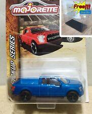 Majorette Ford F150 Blue Metalic Diecast Pick Up Car 1:72 201C Free Display Box