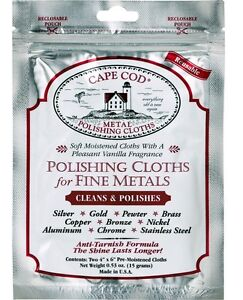 CAPE COD Polishing Cloth Fine Metal, Watches, Jewellery (1 pack of 2 cloths)