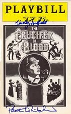CRUCIFER OF BLOOD BROADWAY CAST - SHOW BILL COVER SIGNED WITH CO-SIGNERS