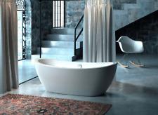 Carver Tubs Rockefeller 69″ Freestanding Tub +Brush Nickel Drain-White Acrylic