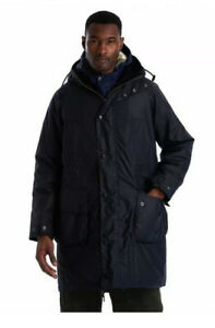 BARBOUR x ENGINEERED GARMENTS Navy Highland Wax Parka Size Large 40/42 Jacket