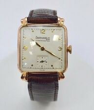 W503- Very Rare 18K Rose Gold Eberhard & Co Chronograph Watch 18 JEWEL