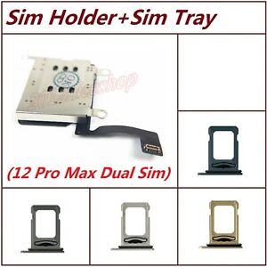 Lot OEM Dual Sim Card Reader Holder Slot Module Flex Tray For iPhone 12 Pro Max