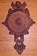 Antique Cast Iron Door Knocker Or Wall Bracket Candle Holder - Angel