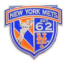 New York Mets Established in 62 MLB Shield Banner Logo Pin