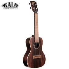 Kala KA-EBY-C Striped Ebony Series Concert Size Ukulele with Aquila Super Nylgut