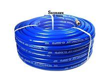 "300 PSI PVC Air Hose 3/8"" x 50' FT With 1/4"" NPT Brass End Fit Blue"