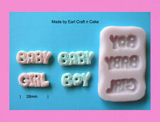 Baby boy - girl mould Silicone Mould Make Cake Toppers Gum Paste Cake Decorating