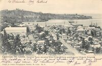 CPA ANTILLES St LUCIA CASTRIES TOWN SHOWING FROM POINT MILITARY QUARTERS HOSPITA