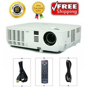 HDMI NEC NP-V300X DLP Projector 3000 ANSI HD 3D Movies Gaming 1080i bundle