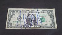 DONALD TRUMP SIGNED $1 DOLLAR BILL CURRENCY 45TH PRESIDENT COA PROOF