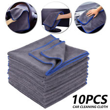10Pack Large Grey Car Cloths Microfibre Cleaning Detailing Soft Auto Wash Towel