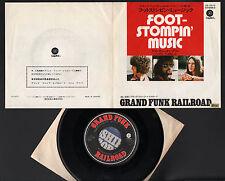 "7"" GRAND FUNK RAILROAD FOOTSTOMPIN' MUSIC / I COME TUMBLIN' JAPAN 1971 CAPITOL"