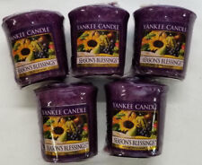 Yankee Candle Votives: SEASON'S BLESSINGS Wax Melts Lot of 5 Purple New Fruit