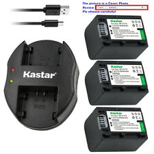 Kastar Battery Dual Charger for Sony NP-FH100 NP-FH70 NP-FH90 & BC-TRH BC-VH1