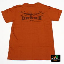 DRAKE WATERFOWL WINGSPAN LOGO TEE T-SHIRT SHORT SLEEVE SS BURNT ORANGE 2XL