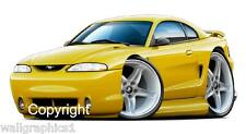 1994-98 Ford Mustang Cobra 4.6 Tremec Wall Graphic Sticker Vinyl Decal Man Cave