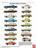 1979 DODGE FULL LINE Dealer Auto Sales Brochure:MAGNUM,024,CHALLENGER,RAMCHARGER