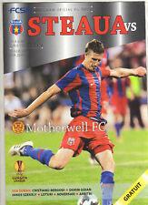 Orig.PRG    Europa League 09/10    STEAUA BUCAREST - MOTHERWELL FC  !!