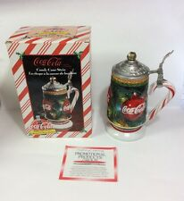"""NEW Coca Cola 1998 """"Holiday Series"""" Candy Cane Stein Numbered 10076"""