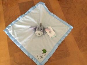 Disney Baby Eeyore  Blankee Toy Cream &  Blue Velour Infant & Toddler