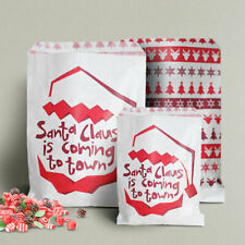 More details for santa claus is coming sweet paper bags - christmas, santa, festive party bags