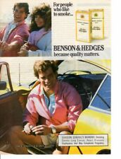 Vintage print ad Tobacco Cigarettes Benson & Hedges Couple Yellow Sports Car 87