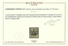Francobolli italiani dell'antico stato Lombardo Veneto nero