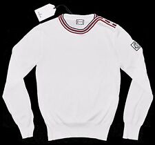 MONCLER GAMME BLEU Knitted French Flag Collar Logo Sweater XS/SMALL ITALY $1150