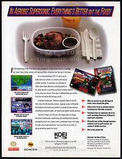 AEROBIZ - Koei__Original 1994 print AD / game promo__Super NES_Sega Genesis_SNES