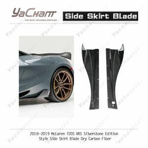 Dry Carbon Kit For 18-19 McLaren 720S VRS Silverstone Edition Side Skirt Blade