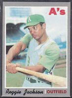 1970  REGGIE JACKSON - Topps Baseball Card # 140 - Oakland Athletics - Vintage