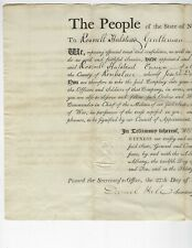 1810 New York signed Militia Appointment Daniel D Tompkins 6th Vice President