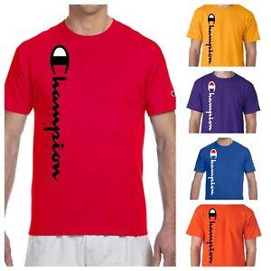 Champion T-shirt (S-3XL)(13 Colors) Mens Script Logo T-Shirt